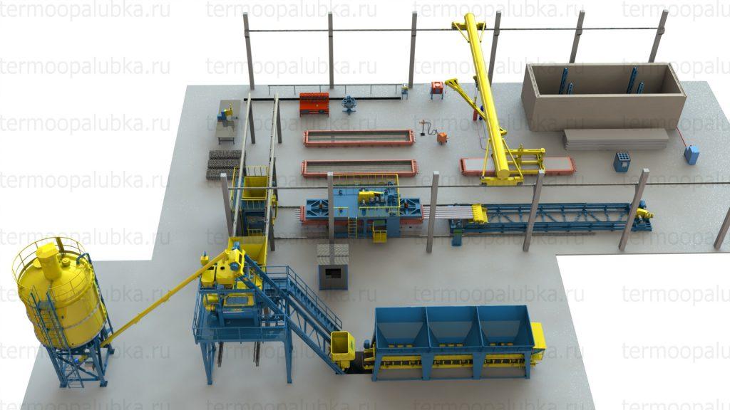 бетоносмесительный цех завода жби