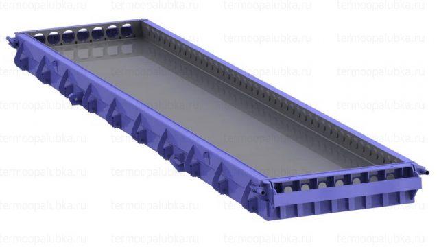 Стальная форма для производства пустотных плит перекрытия
