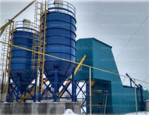 Бетонный завод утепленный
