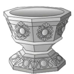 Форма для заливки вазона