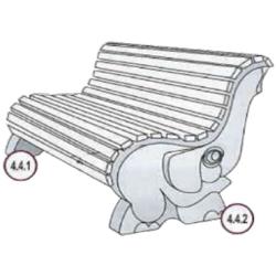 Форма для бетонной скамейки