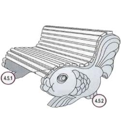 Формы для скамеек из бетона