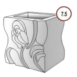 Бетонные урны форма