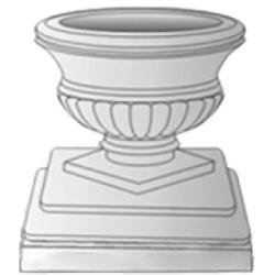 Стеклопластиковая форма для вазона