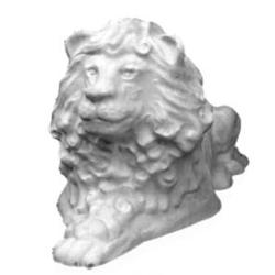 Форма садовой фигуры льва