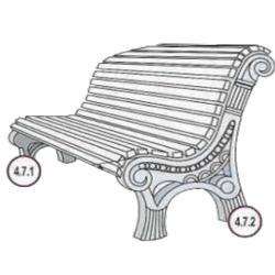Формы для производства скамеек