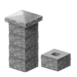 Форма для заливки столбов забора