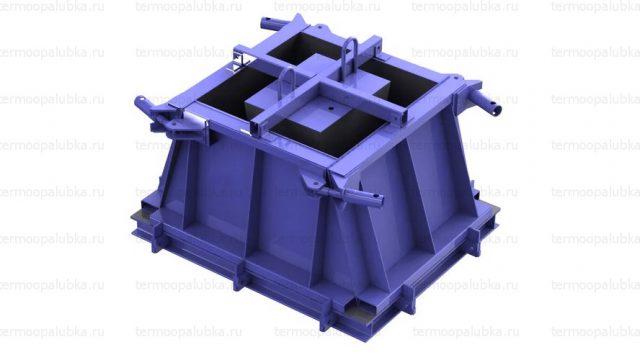 Форма фундамента плит забора ФО 2