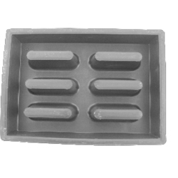 Форма для тротуарной плитки газонная решетка